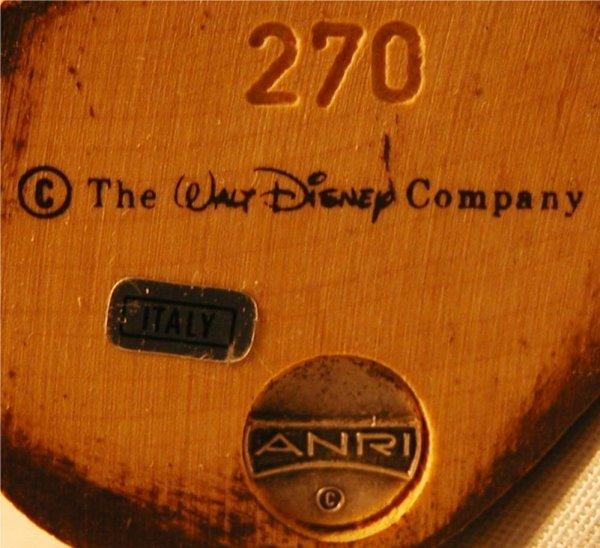 1074: Anri 1988 Disney Pinocchio #270 with Box, MIB, 4  - 4