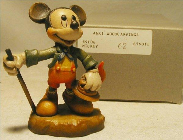 1124: Anri 1988 Disney Mickey #62 with Box, MIB, 4 Inch