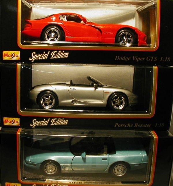 2013: Maisto (Viper, Porsche Boxster, Corvette)