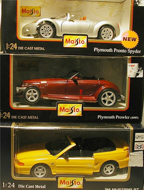 2019: Maisto(Mustang GT, Plymouth Prowler, Plymouth Spy