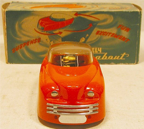 """2022: Timely turnabout auto with box, 6"""" long, Wind up"""