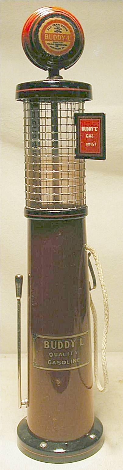 "3001: Buddy L Gasoline Pump, 16"" High, Mint Cond., Cont"