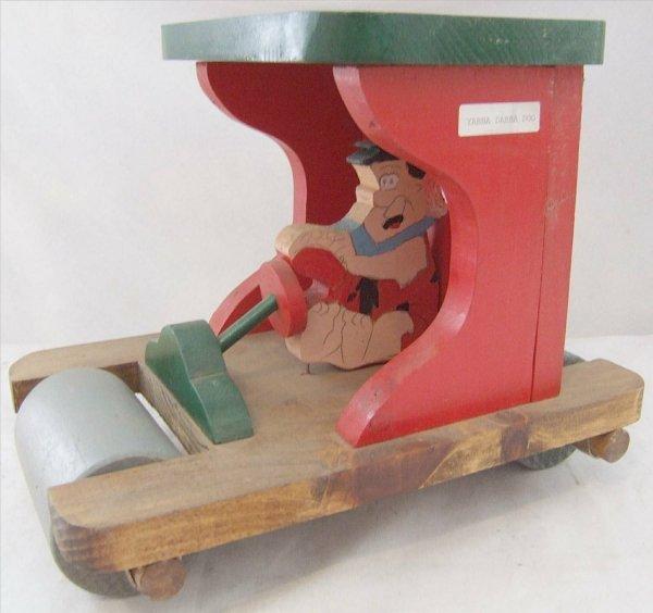 3003: Contemporary Fred Flintstone Wooden Car, 12 x 9
