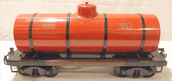 3009: T Reproduction Buddy L Red Tanker, Outdoor Railro