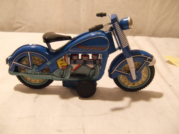 3023: 1950's Tin Toy Production Harley Davidson Motorcy
