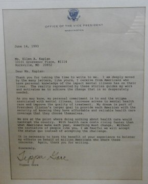 4: Autographed Letter by Tipper Gore