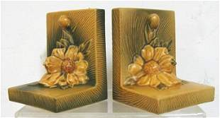 Roseville Peony Bookends (Pair) #11
