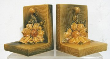 9: Roseville Peony Bookends (Pair) #11