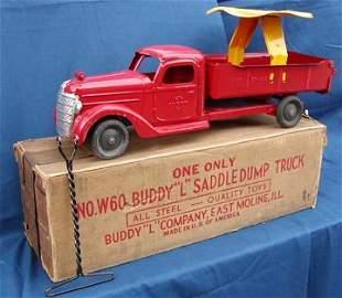 Buddy L Saddle Dump Truck with Box