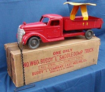 15: Buddy L Saddle Dump Truck with Box