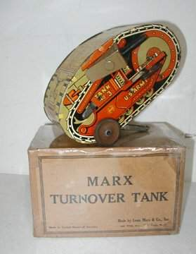 Marx Turn Over Tank #3 with Box