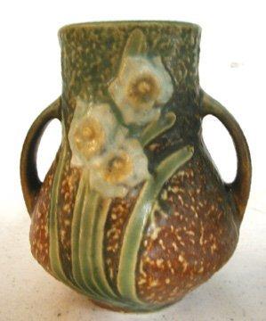"""19: Roseville Jonquil Vase 4 1/2""""H"""