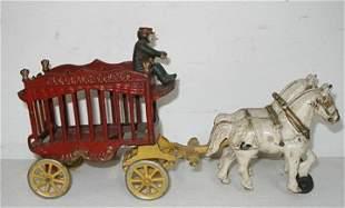 Kenton Overland Circus Bear Wagon Horse Drawn