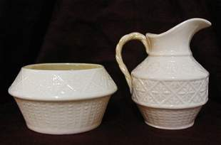 Belleek Pattern Cream & Sugar Set