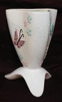"Hull B14 Butterfly Vase, 10 1/2""H"