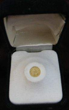 World's Smallest Kugerand in Jewelry Box