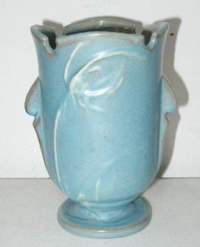 Roseville Blue Teasel 881-6 Vase