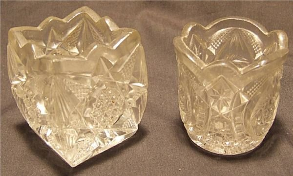 1012: Two Pattern Glass Toothpick Holders,