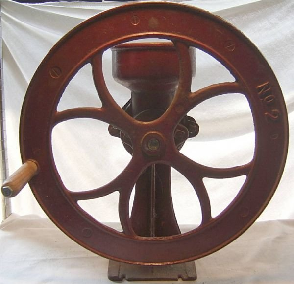 "2001: #2 Wheel Grinding Mill, 18""H x 15""W, Excellent"