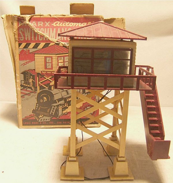 4015: Marx Switchman's Automatic Tower with Box