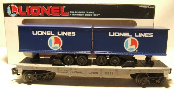 4022: Lionel #16323 Lionel Lines Flat with Trailers