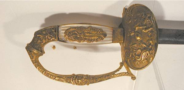 1023: Peruvian Officer's Sword, Pearl Grips