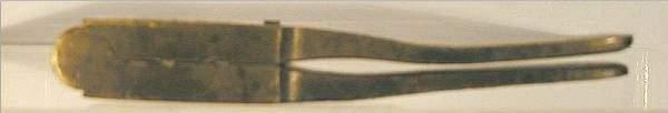 1043: Small Brass Bullet Mold, 28 Cal. Ball