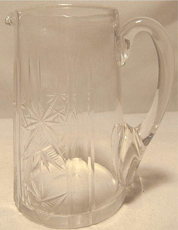 2003: Crystal Pitcher with Ground Pontil, Excellent Con