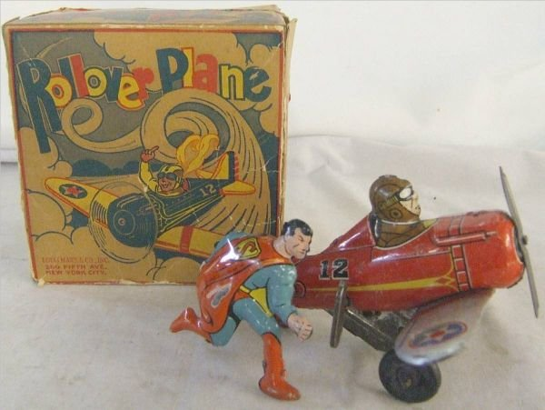 3066: Marx Superman Rollover Airplane with Original Box
