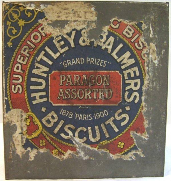 4010: Huntley & Palmers Biscuit Tin, 9 1/4 x 8 3/4 x 5