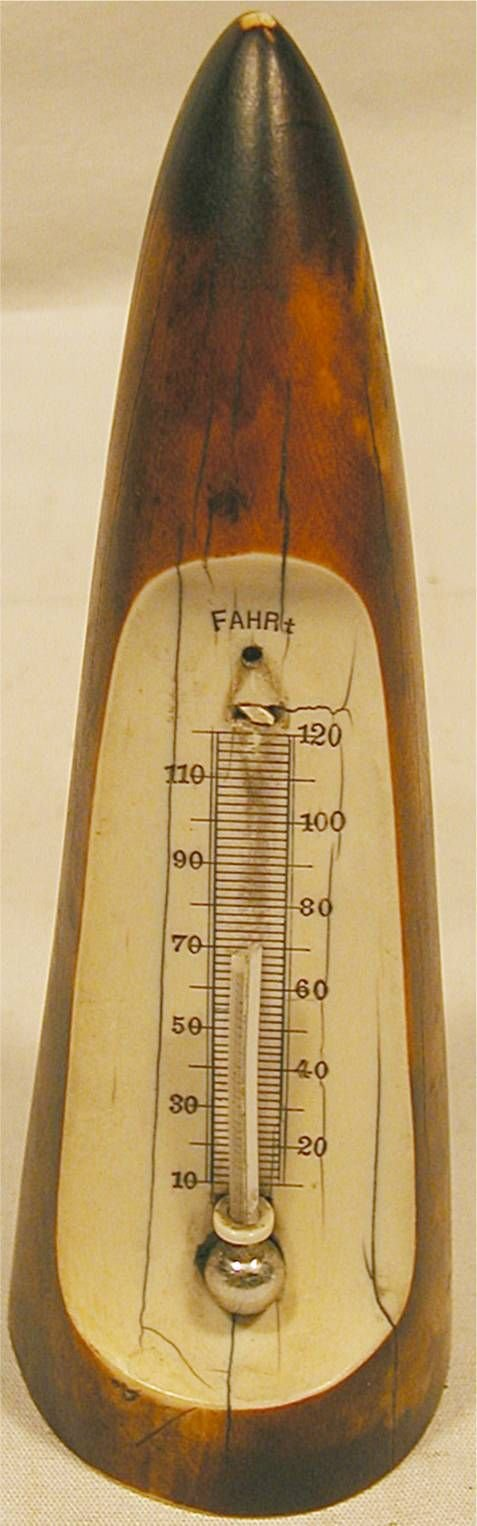4025: Vintage Ivory Thermometer from the Vice President