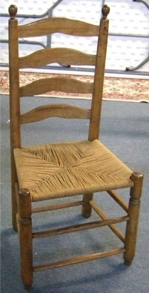 4016: Early Ladder Back Chair, Excellent Condition