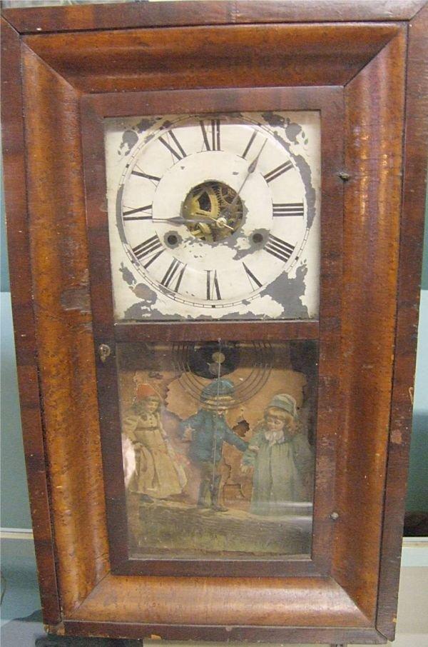4012: OG Shelf Clock with Weights, Victorian Children S