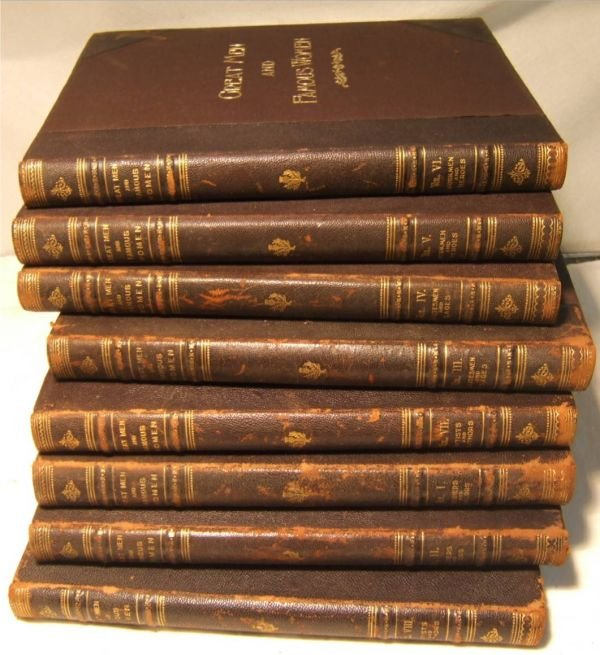 4021: Great Men and Famous Women 1894 8 Volumes Complet