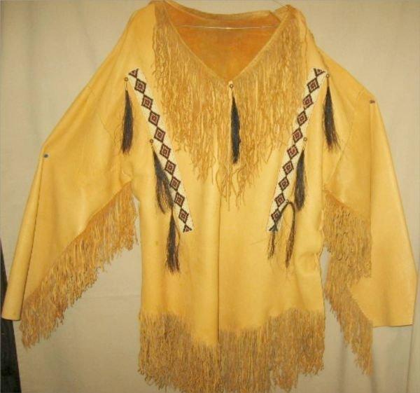 3067: Early to mid 1900's Blackfoot beaded war shirt &