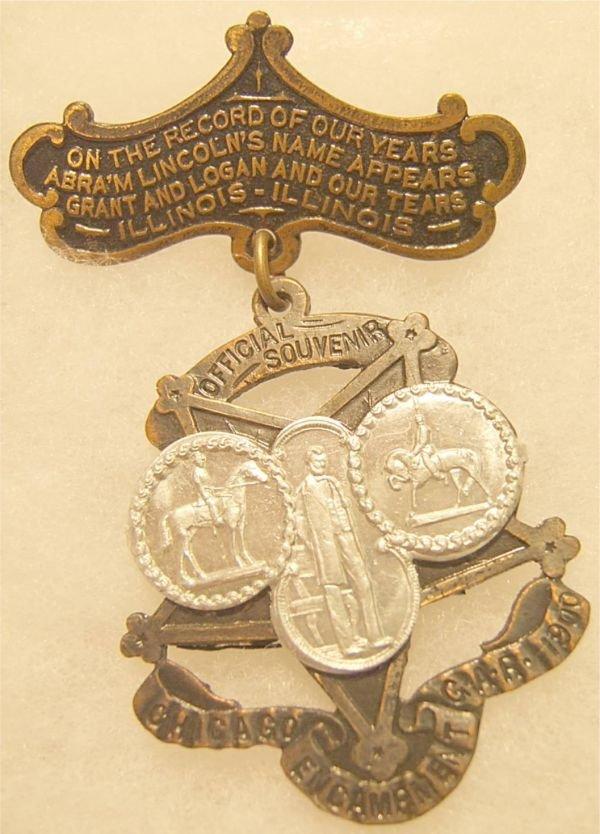 3008: GAR Medal from Chicago Encampment of 1900