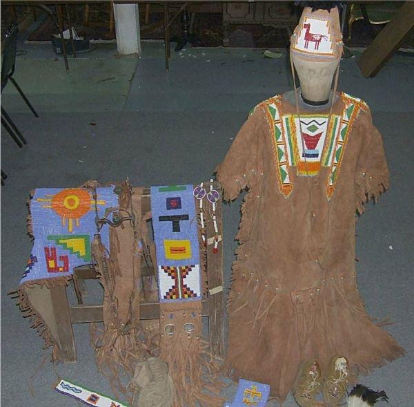 3150B: Complete Nez Perce Beaded Appaloosa Horse ( Brid