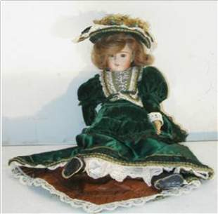 Porcelain Doll Dated 1984