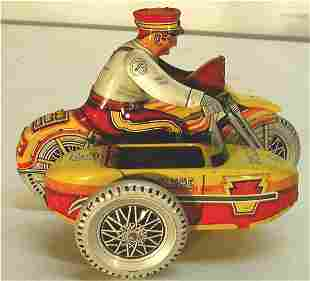 Marx Police Motocycle with Side Car