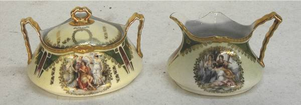 2007: Limoges H & Co. CAMEO Sugar & Creamer Set