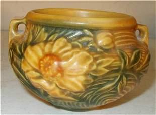 Roseville # 661-3 Yellow Peony Jardiniere