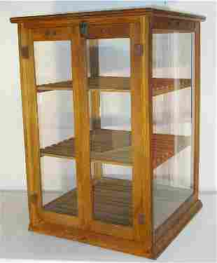 Country Store Oak Pie Safe with Two Doors