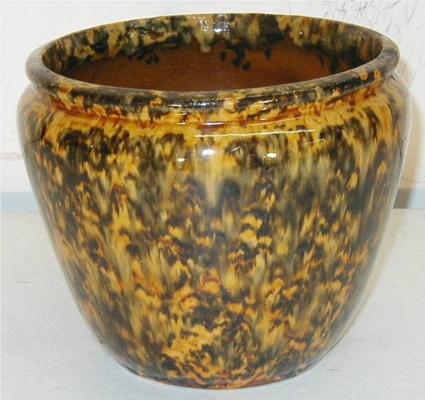 2012: McCoy or Owens Pottery Glazed Jardiniere