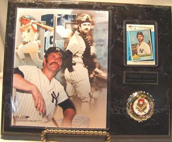 11: Thurman Munson New York Yankee Plaque w/ Photo and