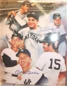 67: Joe Dimaggio & Mickey Mantle Autographed Photo, 8 x
