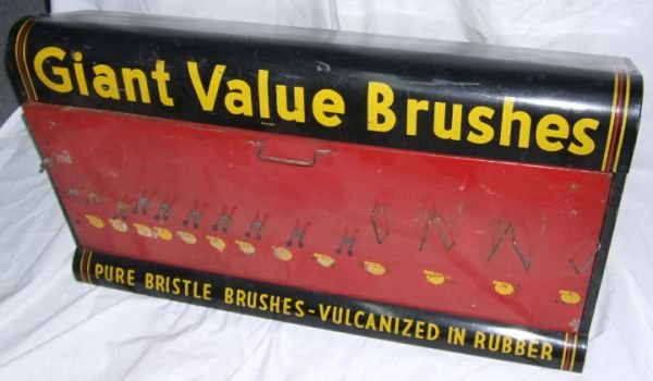 12: Giant Value Brushes Display, 17H x 13D x 32 3/4