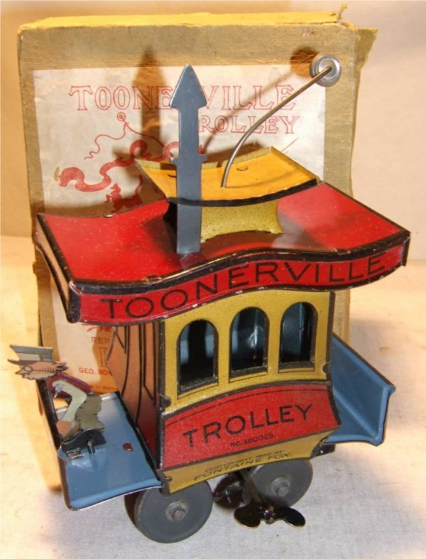 1098: Nifty (Germany) Toonerville Trolley w/ Rare Origi