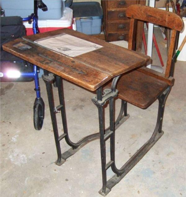 1001: School Desk from Harrow School with COA, The Same