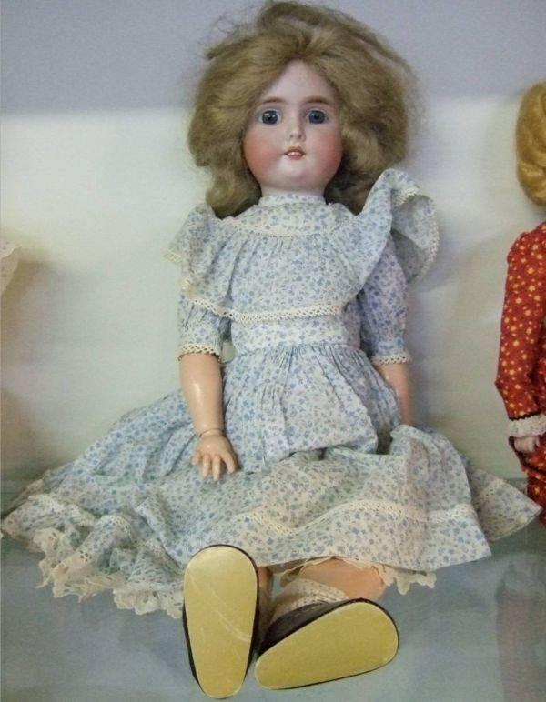 """2161: 24"""" H 1800's Porcelain Doll marked Special Germ"""