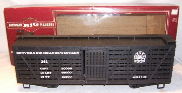 4005: Bachmann Big Hauler G-Scale with Box, Denver & Ri